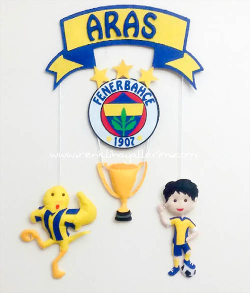 Aras Fenerbahçe Kapı Süsü Sarı Lacivert