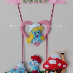 Beren isimli şirinler kapı süsü kız bebek
