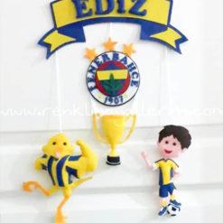 Ediz Fenerbahçe Kapı Süsü Sarı Lacivert