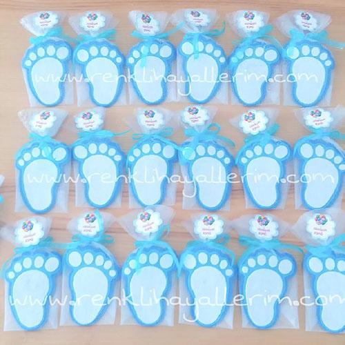 Bebek Ayağı Magnetler mavi
