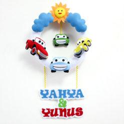 Yahya Yunus Mutlu Arabalar Bebek Kapı Süsü