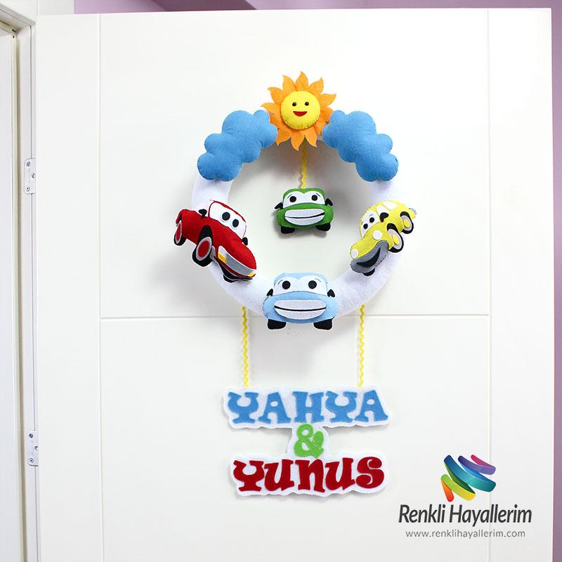 Yahya Yunus Mutlu Arabalar Bebek Kapı Süsü Simit