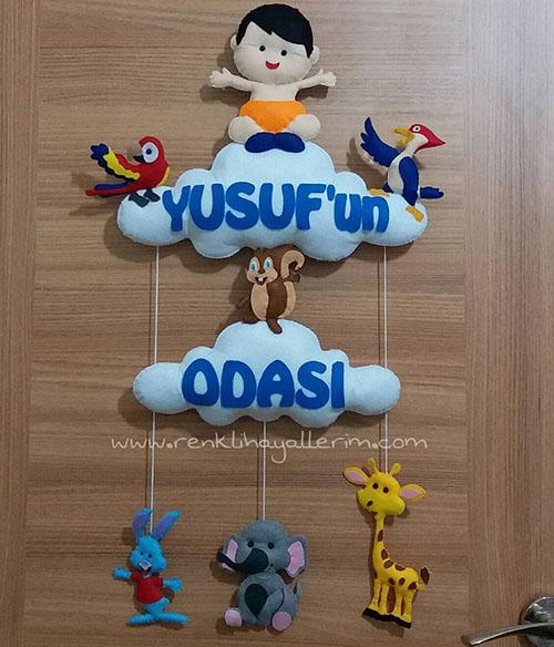 Çocuk odası kapı süsü Yusuf