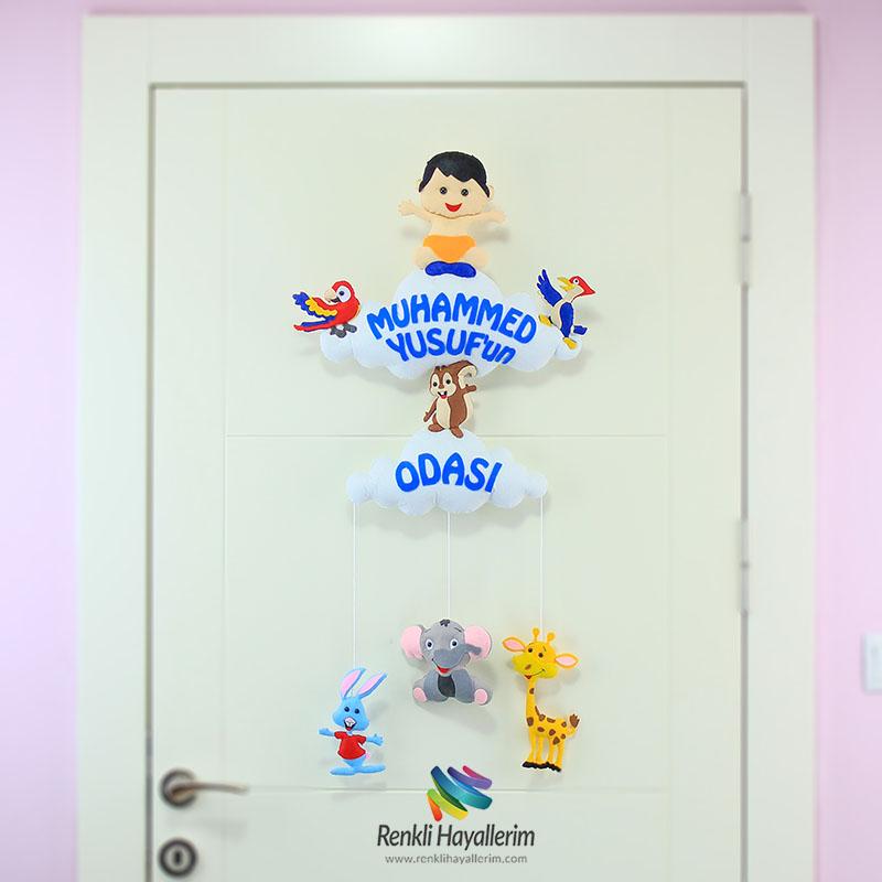 Muhammed Yusuf Çocuk Odası Bebek Kapı Süsü