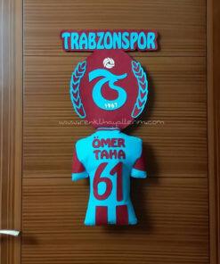 Bordo Mavi Kapı Süsü Ömer Taha Trabzonspor