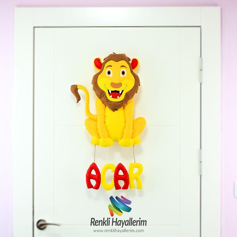 Acar aslan bebek odası kapı süsü