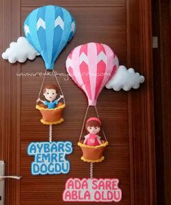 aybars emre ada sare balonlu çocuk kapı süsü