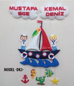 Denizci kardeş kapı süsü Mustafa Ege Kemal Deniz
