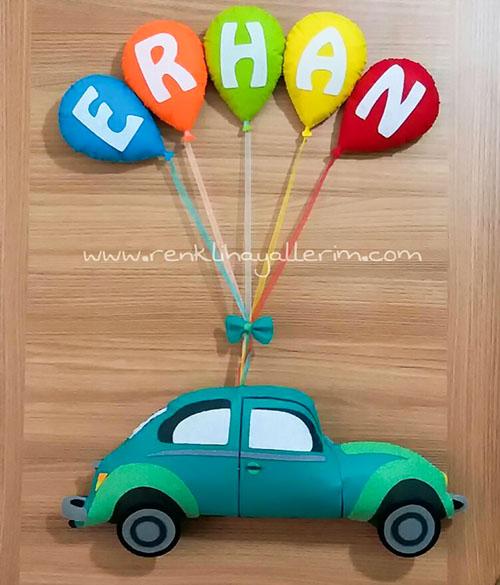 Erhan vosvos kapı süsü - Erhan isimli bebek kapı süsü modelleri