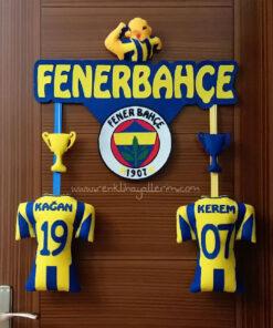 Kağan Kerem Kardeşler Sarı Lacivert Kapı Süsü Fenerbahçe