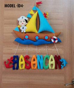 Zeki Çınar dolgulu isimli bebek denizci kapı süsü