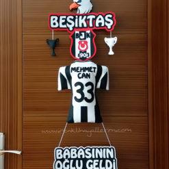 Mehmet Can isimli beşiktaş kartal bjk kapı süsü bebek hastane