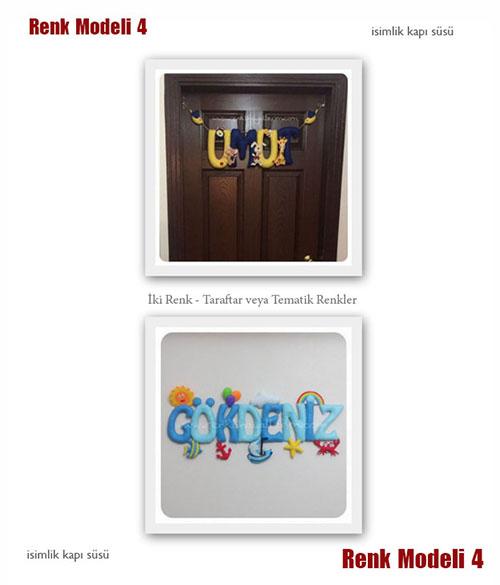 İsimlik Kapı Süsü Renk Modeli 4