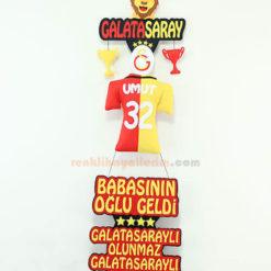 Umut isimli Galatasaray Bebek Kapı SüsüUmut isimli Galatasaray Bebek Kapı Süsü