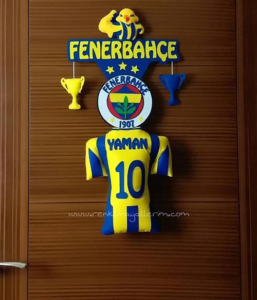 Sarı Lacivert Kapı Süsü Fenerbahçe Yaman