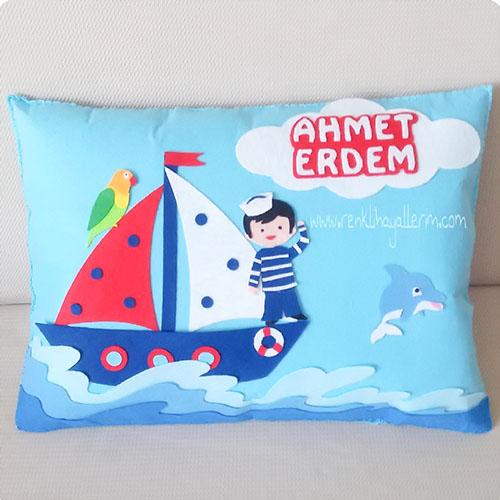 Ahmet Erdem isimli denizci takı ve süs yastığı