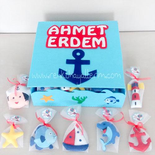 Denizci Anahtarlıklar Magnet Bebek Şekeri Set