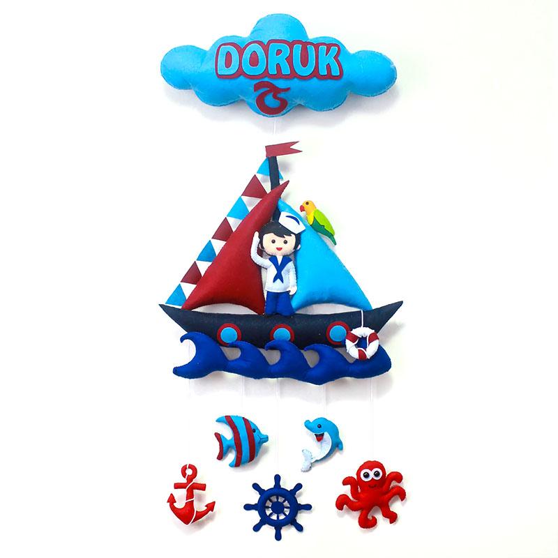 Doruk isimli Trabzonspor Denizci Bebek Kapı Süsü