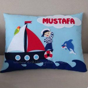 Mustafa Bebek Denizci Takı ve Süs Yastığı