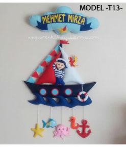 Mehmet Mirza bebek isimli denizci kapı süsü