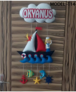Okyanus bebek isimli denizci kapı süsü