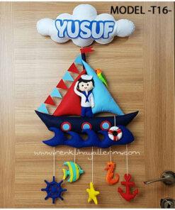 Yusuf bebek isimli denizci kapı süsü - Yusuf isimli bebek kapı süsü modelleri