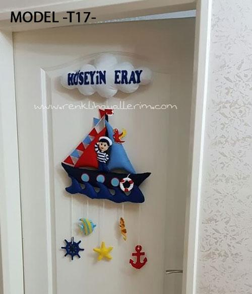 Hüseyin Eray bebek isimli denizci kapı süsü