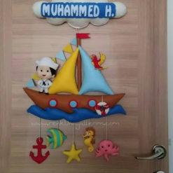 Muhammed bebek isimli denizci kapı süsü