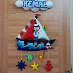 Denizci Kemal bebek isimli kapı süsü
