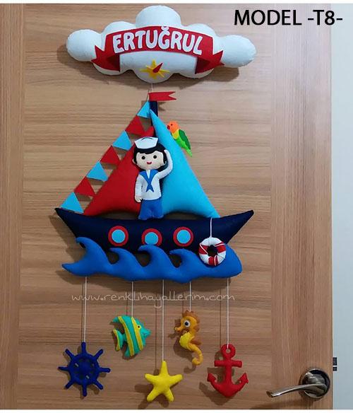 Ertuğrul bebek isimli denizci kapı süsü