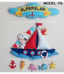 Alparslan bebek isimli denizci kapı süsü