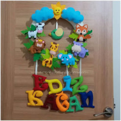 Ediz Kağan bebek isimli safari kapı süsü - kağan isimli bebek kapı süsü modelleri