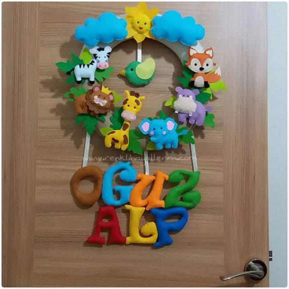 Oğuz Alp Bebek isimli safari kapı süsü
