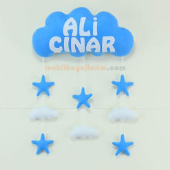 Ali Çınar isimli Mavi Beyaz Bulut Kapı Süsü
