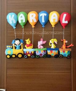 Kartal isimli bebek tren kapı süsü