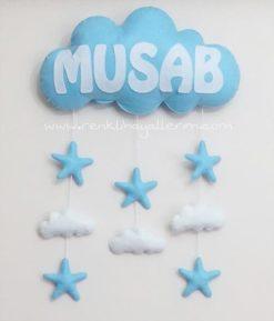 Musab bebek isimli bulut kapı süsü