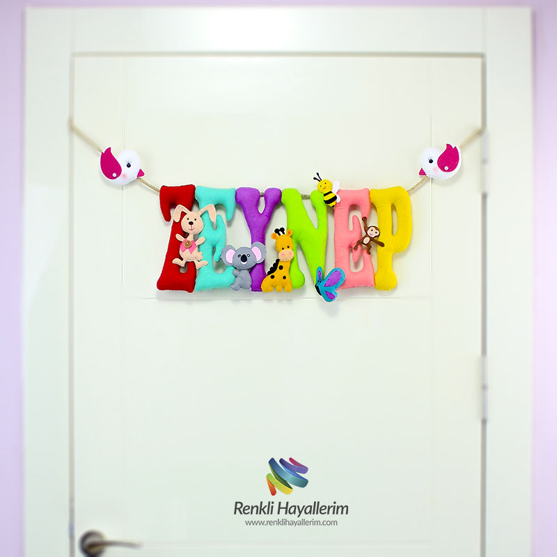Zeynep isimli bebek odası kapı süsü