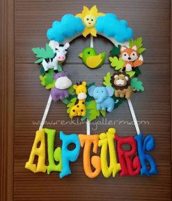 Alptürk safari kapı süsü hastane kapı süsü - alptürk isimli bebek kapı süsü modelleri