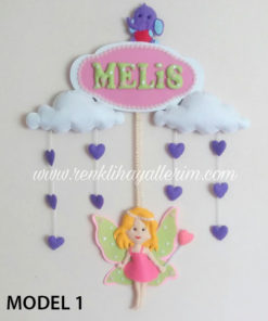 Melis Bebek Peri Kızı Kapı Süsü
