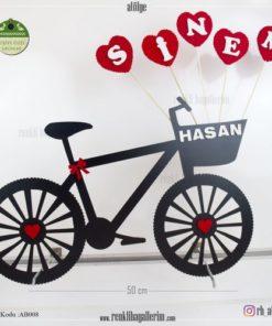 Ahşap Dekoratif Bisiklet - AB008