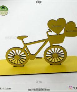 Ahşap Bisiklet Raf Süsü - AB016