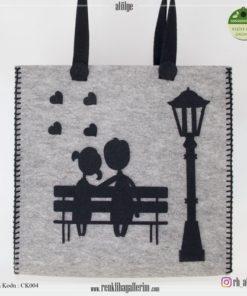 Keçe Kol Çantası - CK004 , hediye , kol çantası