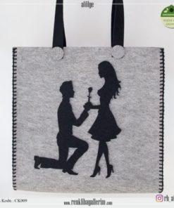 Keçe Kol Çantası - CK009 , hediye , kol çantası