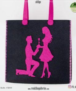 Keçe Kol Çantası - CK010 , hediye , kol çantası