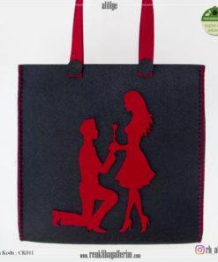 Keçe Kol Çantası - CK011 , hediye , kol çantası