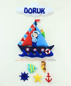 Doruk isimli Denizci Bebek Kapı Süsü