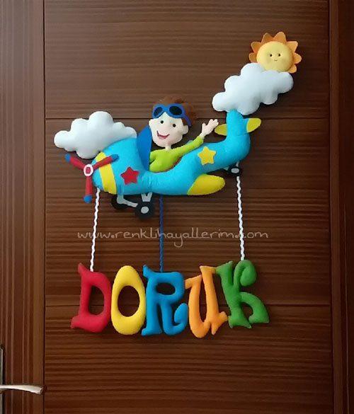 Doruk isimli uçak kapı süsü