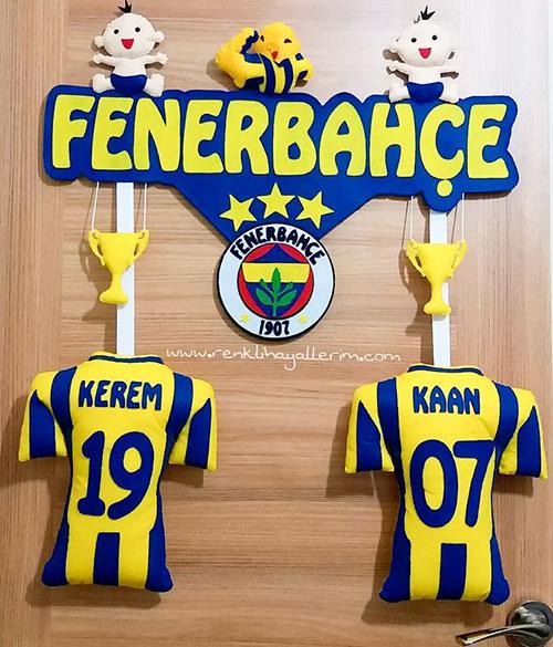 Fenerbahçe Kardeş İkiz Kapı Süsü Kanarya
