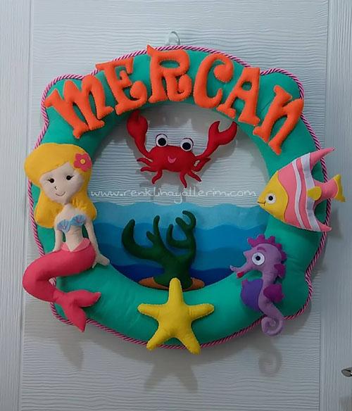 Mercan Simit Kız Bebek kapı süsü