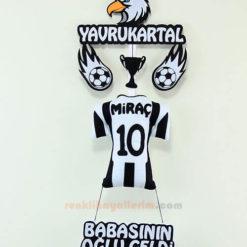 Miraç isimli Beşiktaş Yavru Kartal Kapı Süs